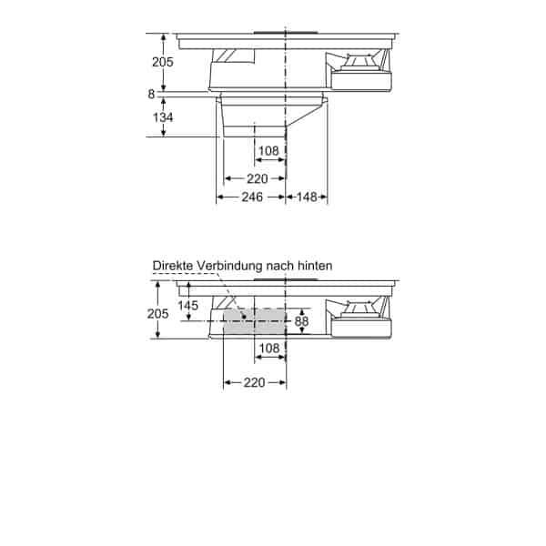 Bếp Từ Kết Hợp Hút Mùi Bosch PXX875D34E Serie 8