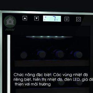 TỦ RƯỢU CASO 38 CHAI CASO WINE TOUCH CONFORT 38