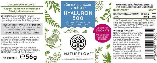 Viên Nang Nature Love Hyaluron 500 - 90 Viên 69g-1