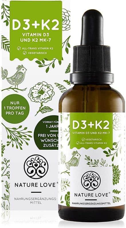 Vitamin D3 K2 Nature Love 2