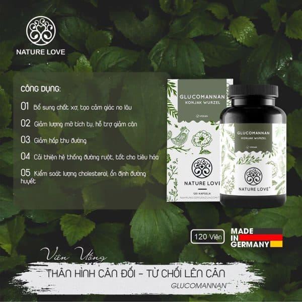 Viên Nang Giảm Cân Nature Love Glucomannan 120 Viên-1