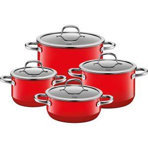 Bộ Nồi Silit Passion Red 4 Món - Màu Đỏ