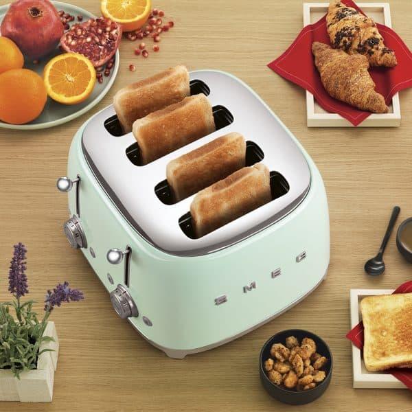 Máy Nướng Bánh Mì Smeg TSF03PGEU Pastel Green-2