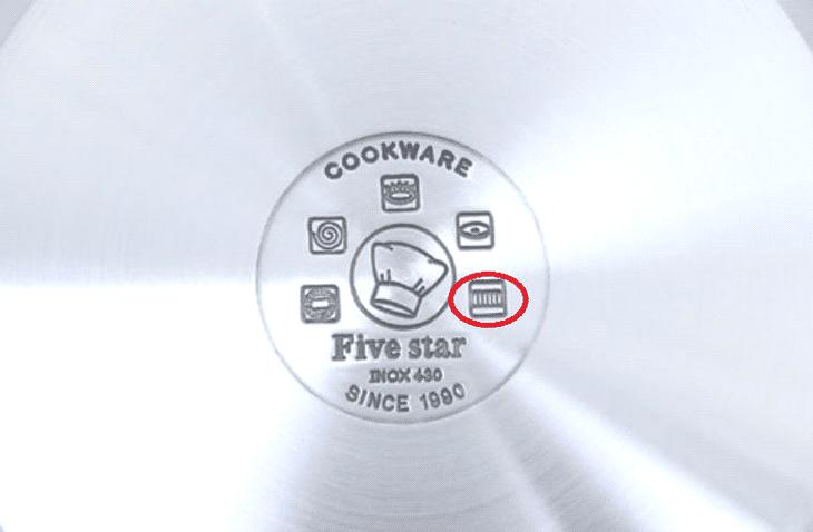 Dấu hiệu induction trên tem nồi chảo