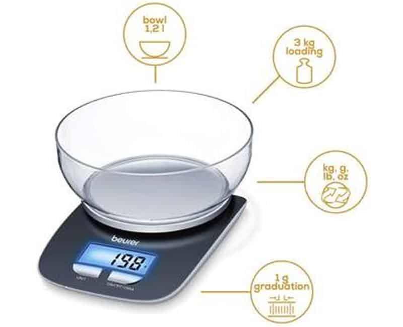 Cân Thực Phẩm Beurer KS25 Digital Kitchen Scales