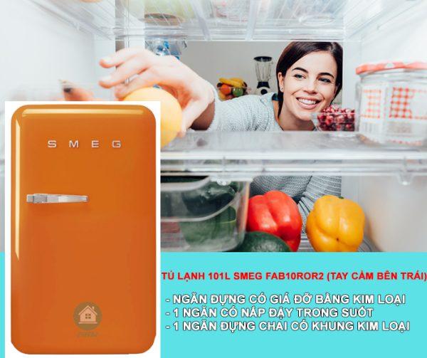 TỦ LẠNH 101L SMEG FAB10ROR24