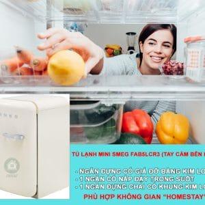 TỦ LẠNH MINI SMEG FAB5LCR3 màu kem