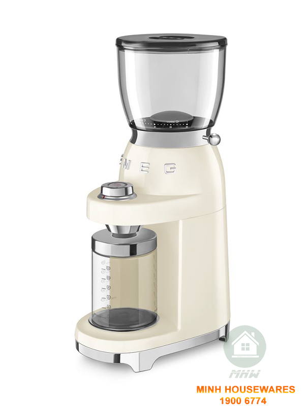 MÁY XAY CAFE SMEG CGF01CREU MÀU KEM