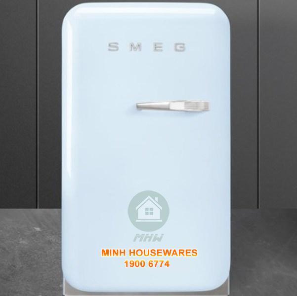 Tủ lạnh mini Smeg FAB5LPB3 màu xanh dương tay cầm bên phải
