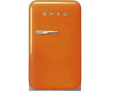 TỦ LẠNH MINI SMEG FAB5ROR3 màu cam tay cầm bên trái