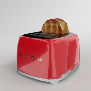 Máy Nướng Bánh Mỳ Smeg TSF03RDEU Red
