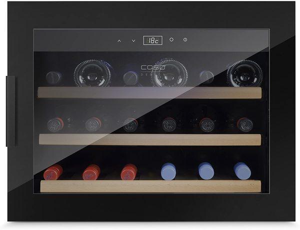 Tủ Bảo Quản Rượu Vang Âm Tủ CASO WineSafe 18 EB Black - 627 - 1