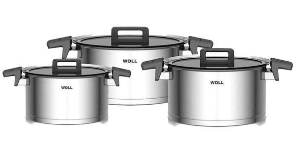 Bộ Nồi Woll Concept NCSET004 Set 6 Pcs 18cm 20cm 24cm-3