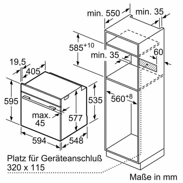 Lò Nướng Bosch HBG635BS1 Series 8 Âm Tủ