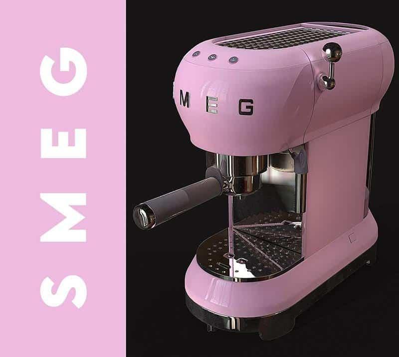 Máy Pha Cà Phê Smeg ECF01PKEU Pink - 3