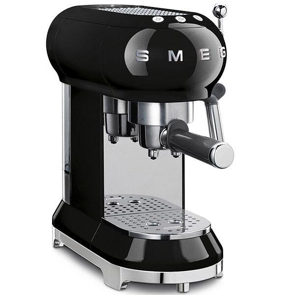 MÁY PHA CAFE SMEG ECF01BLEU màu đen siêu đa năng, giúp bạn có những tách cafe hoàn hảo nhất