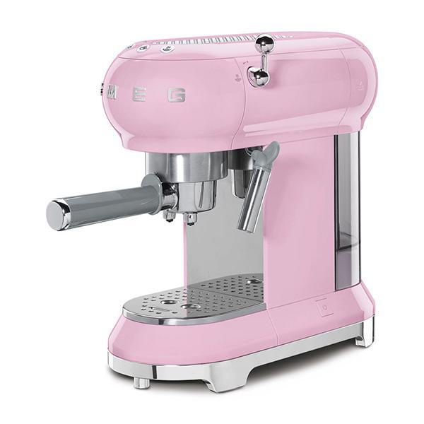 MÁY PHA CAFE SMEG ECF01PKEU màu hồng siêu đa năng, giúp bạn có những tách cafe hoàn hảo nhất