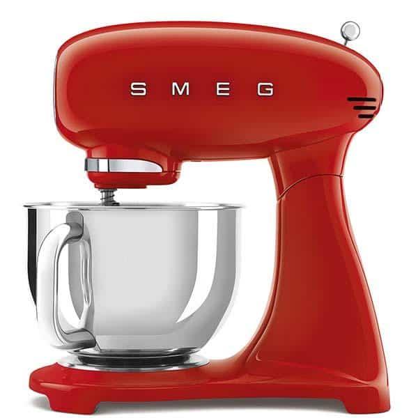 Máy trộn bột SMEG SMF03RDEU màu đỏ kết hợp đánh trứng đa năng
