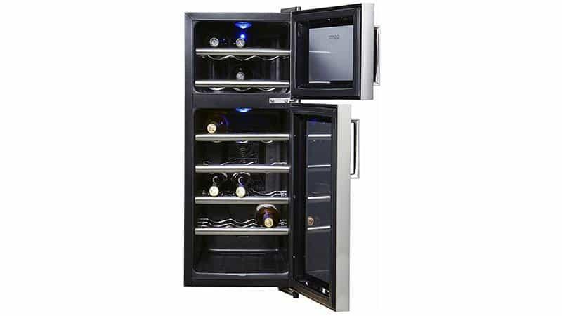 Tủ Bảo Quản Rượu Vang Caso WineDuett Touch 21 Chai - 635-4