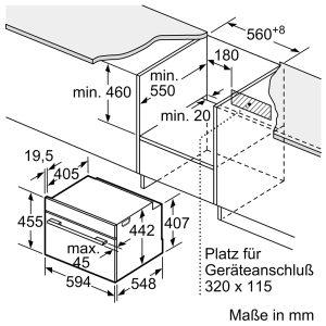 Lò Nướng Bosch CBG675BS3 Series 8 Âm Tủ