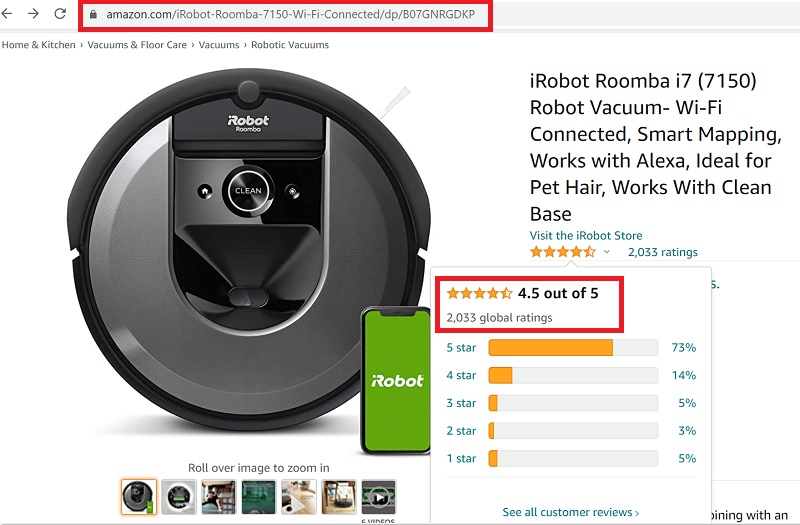 Robot Hút Bụi iRobot Roomba I7 - Minh HouseWares-1