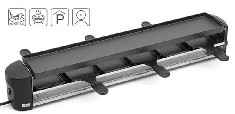Thiết bị bếp nướng Stockli Anthracite Raclette Grill 6 Người 1000W này gây ấn tượng với thiết kế đặc biệt, chức năng tiên tiến và chất lượng cao