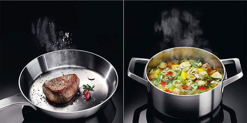 WMF Kult X Mono có 8 mức công suất từ cho bạn sự thoải mái điều chỉnh khi đun nấu và 6 chương trình nấu được cài đặt sẵn