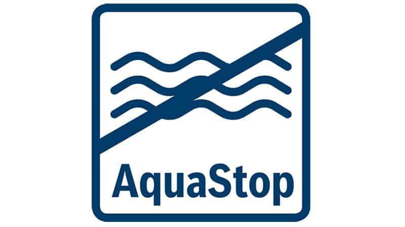 AquaStop 100% bảo vệ khỏi hư hỏng do nước trong suốt thời gian sử dụng của thiết bị