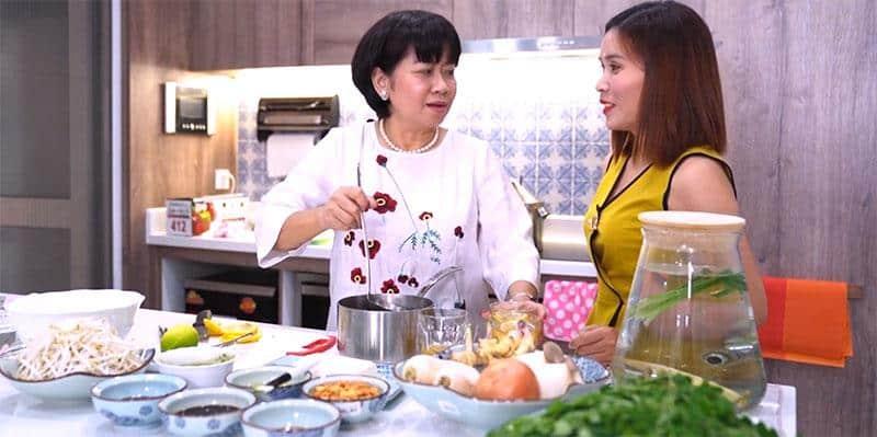 Vào bếp với Doanh Nhân  - Món bánh cuốn tôm Moringa siêu ngon và bổ dưỡng cho bữa sáng