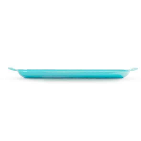 LeCreuset Grillpfanne rechteckig Trad.32x22cm Karibik Blau 5
