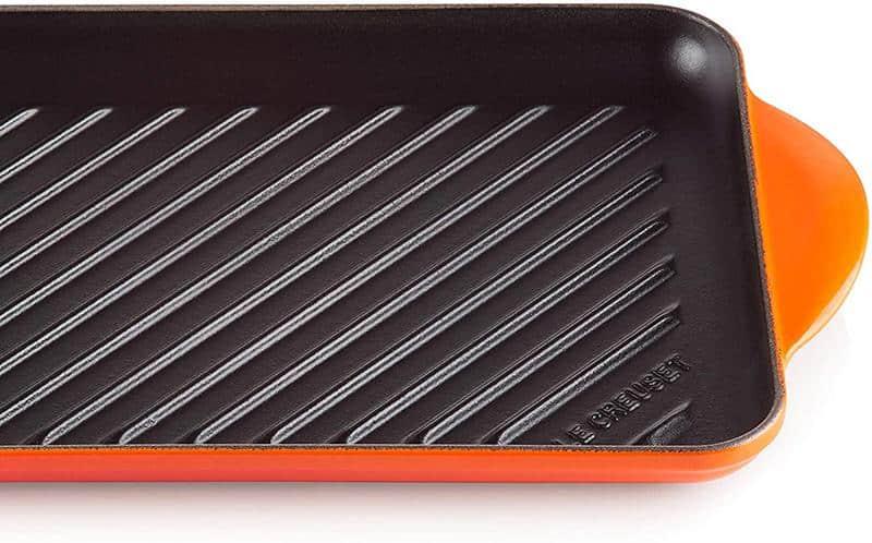 Chảo Nướng Chữ Nhật LeCreuset Grillpfanne Rechteckig Trad. 32x22cm Orange