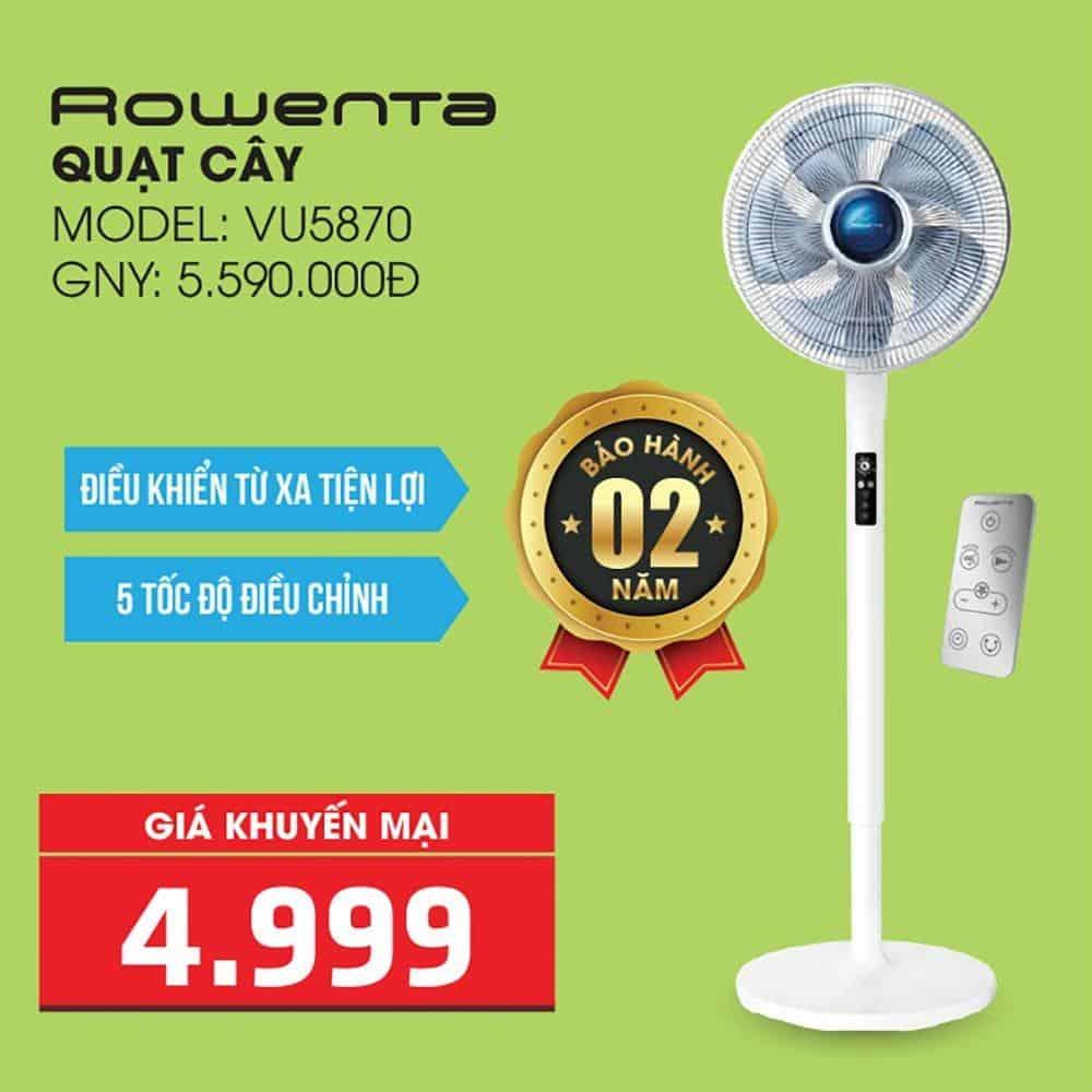 Quat cay Rowenta VU5870 Minh Housewares