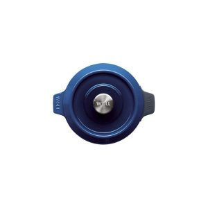 cast iron pot 24 cm chiliredcobalt blue woll iron 124ci