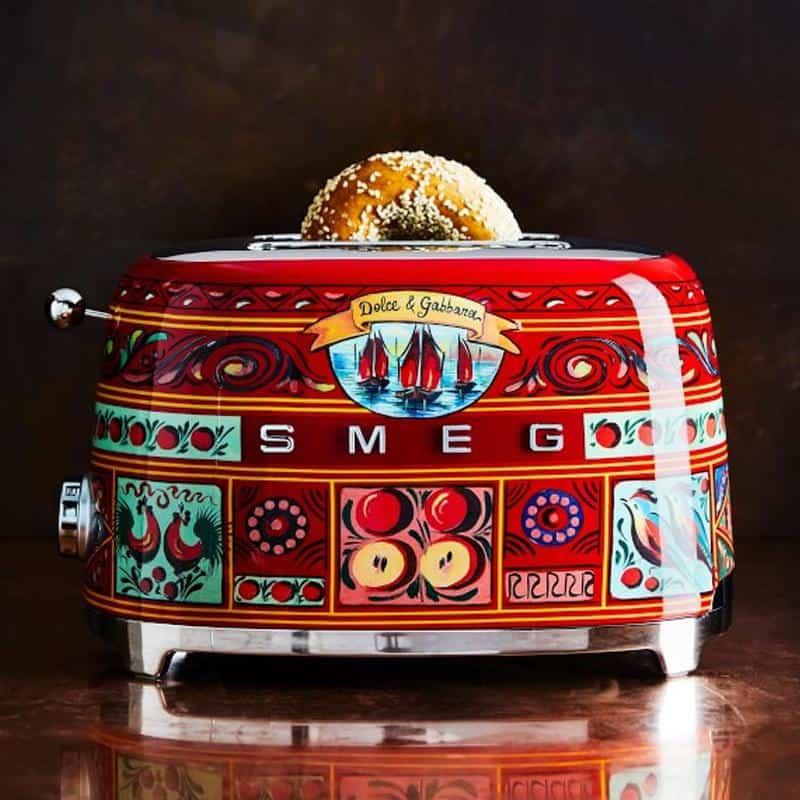 Máy Nướng Bánh Mì SMEG & Dolce&Gabbana TSF01DGEU Sicily Tình Yêu Của Tôi