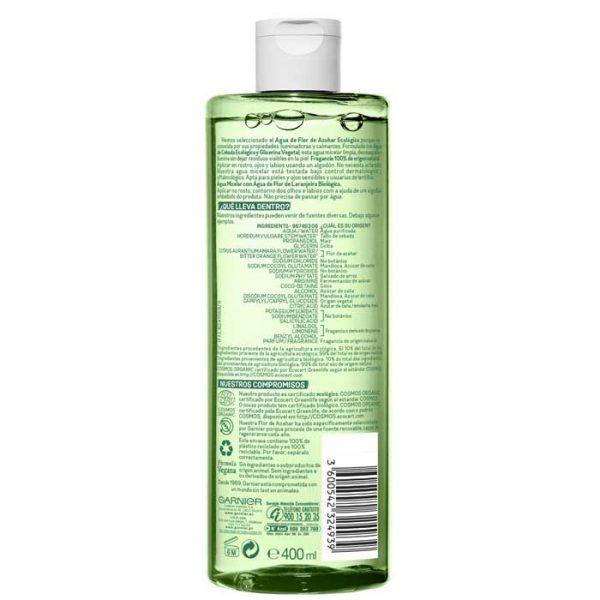 garnier bio agua micelar flor de azahar ecologica 2 52372