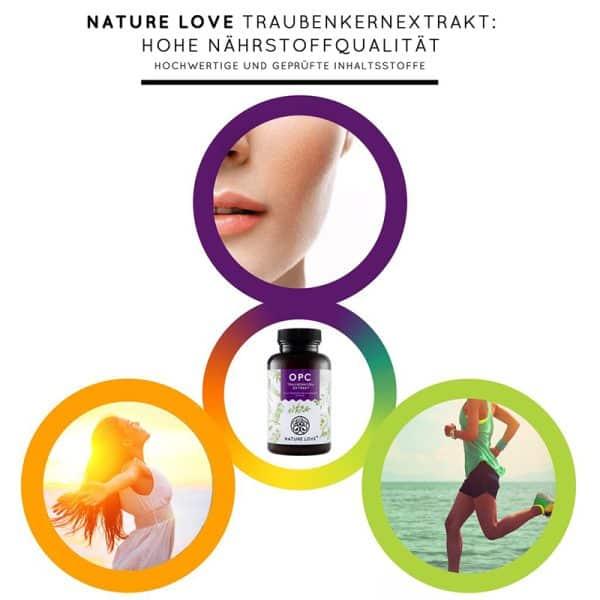 Viên Nang Nature Love OPC Traubenkernextrakt - Chống Oxi Hoá, Thoái Hoá