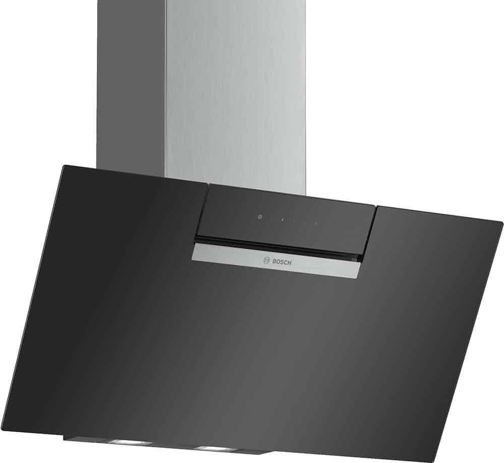 Máy Hút Mùi Bosch DWK87EM60 Serie 2 - Dạng Vát, Màu Đen, Tráng Gương