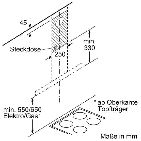 Máy Hút Mùi Treo Tường Bosch DWB67IM50 Serie 4 Thép Không Gỉ