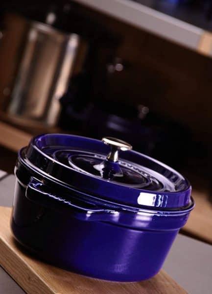 Nồi Gang Staub Round Cocotte Blue 20cm 40510-264-0-2