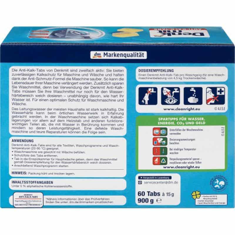 Viên Tẩy Lồng Giặt Denkmit Anti-Kalk 60 Viên-1
