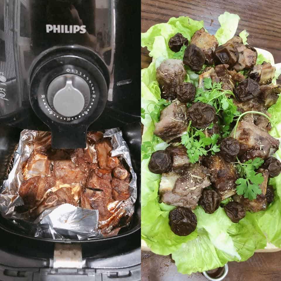 Cách làm Sườn nướng BBQ bằng nồi chiên không dầu Philips