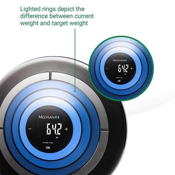 Cân Điện Tử Medisana 40413 TargetScale 3.0 Bluetooth Digital Body Fat Scale