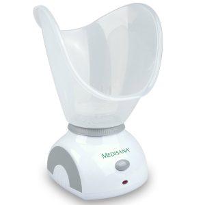 Máy Xông Mặt Medisana FSS là một thiết bị làm đẹp của Medisana sử dụng hơi nước để tẩy rửa và loại bỏ những lớp tế bào chết trên da, bụi bẩn ẩn sâu dưới da, làm cho da mặt bạn trở lên mềm, mịn sáng khỏe đẹp.
