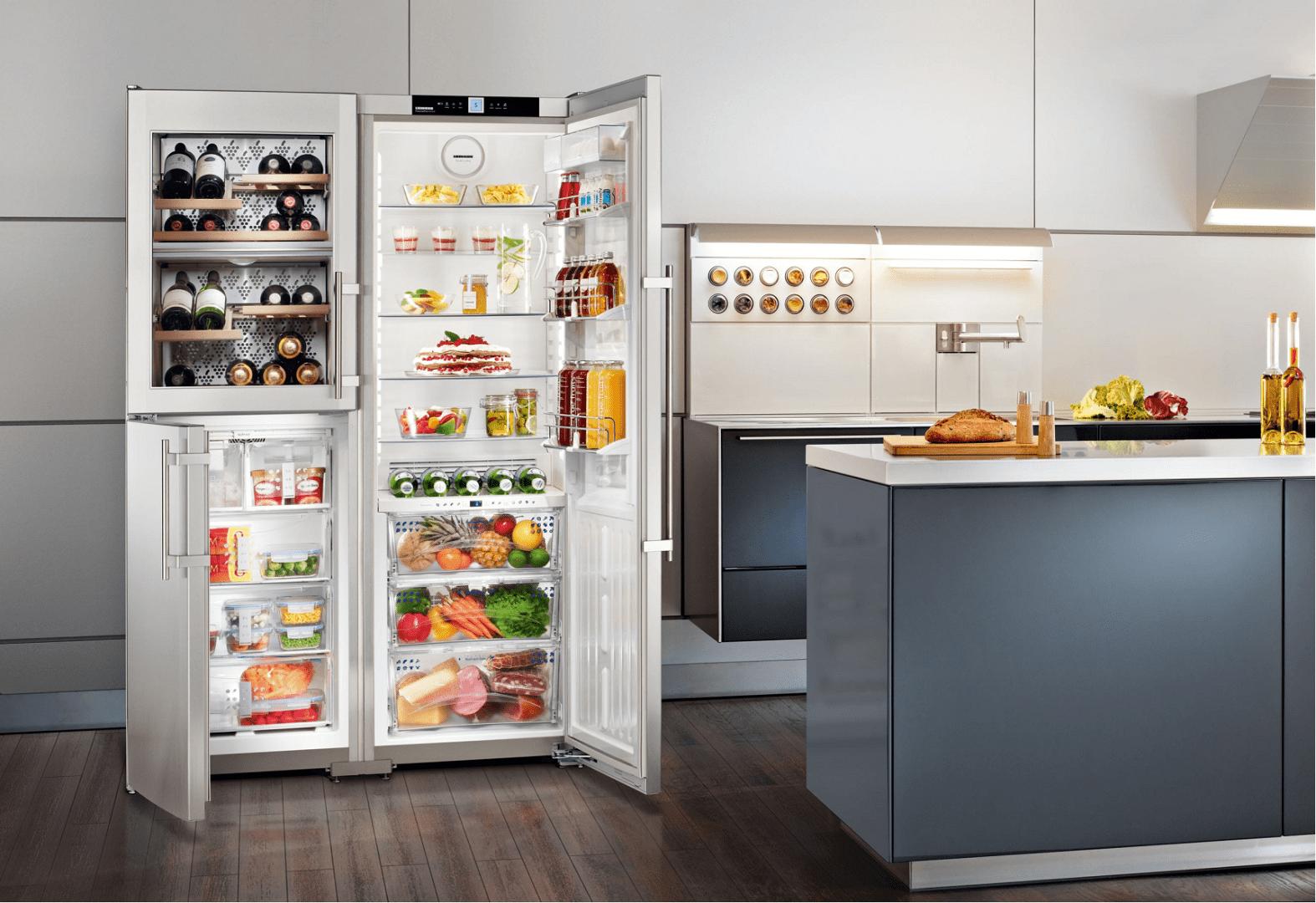 Tủ Lạnh Side By Side Liebherr SBSES 7165 Với Thiết Kế 6 Khoang Nhiệt Độ