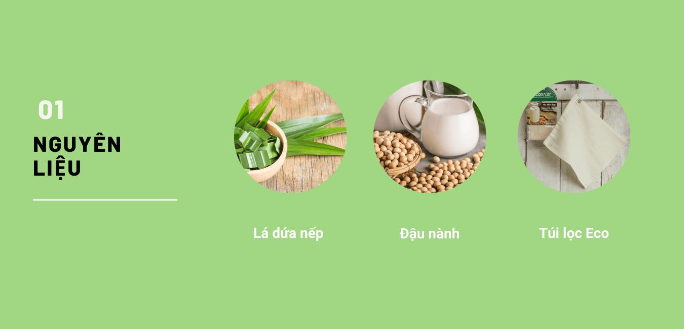 Nguyên liệu chế biến sữa đậu nành thơm ngon