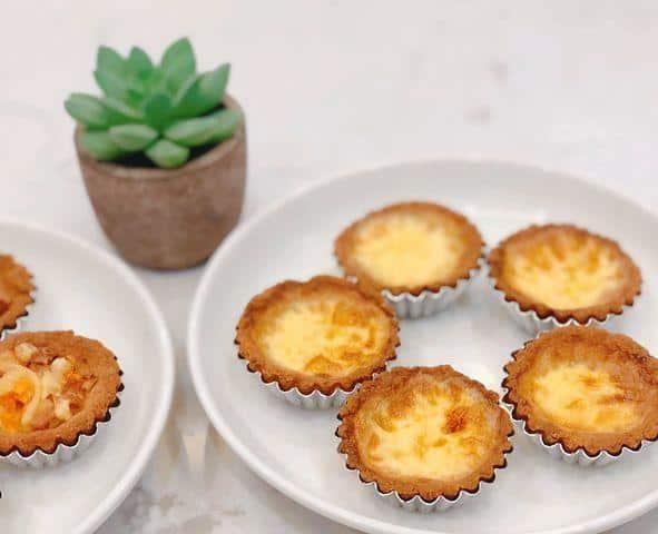 Cách làm bánh tart trứng dành cho người ăn kiêng