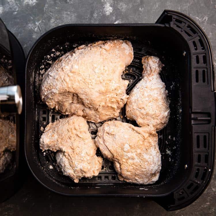 cách làm gà rán kfc bằng nồi chiên không dầu