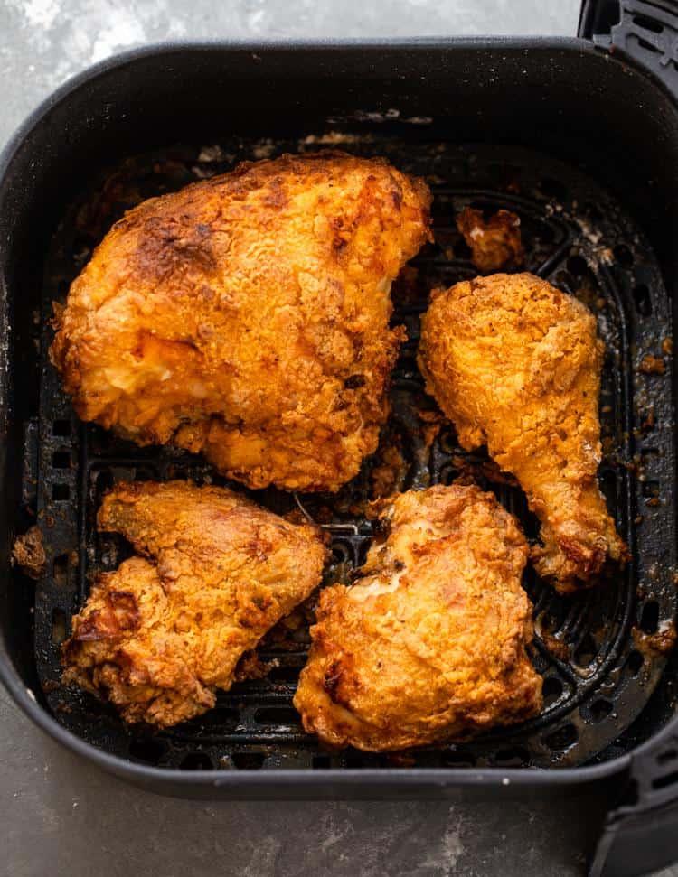 cách làm gà rán bằng nồi chiên không dầu