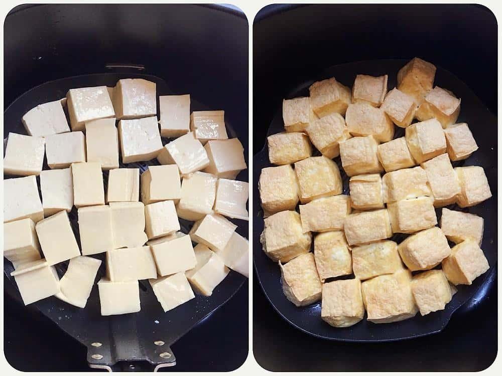 Cách làm đậu rán bằng nồi chiên không dầu