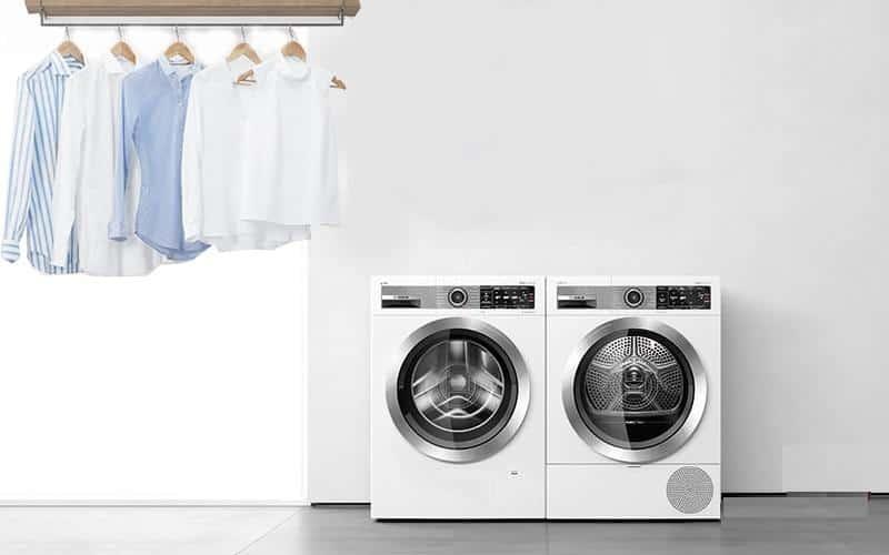 Máy sấy quần áo chung hay riêng